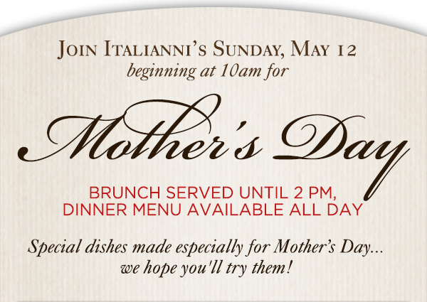Italianni's Restaurant 							 See image for full details